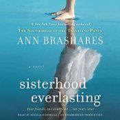 (Sisterhood of the Traveling Pants, Book #5: Sisterhood Everlasting)  Despite having jobs and men that they love, each knows that something is missing: the closeness that once sustained them. Carmen is an actress in New York, engaged to be married, but misses her friends. Lena finds solace in her art, but still thinks of Kostos. This book took a surprising turn at the beginning.  Good wrap up to the series. Completed on 12/24/2014.