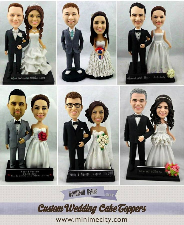 Custom Wedding Cake Toppers made from your photo!  www.minimecity.com