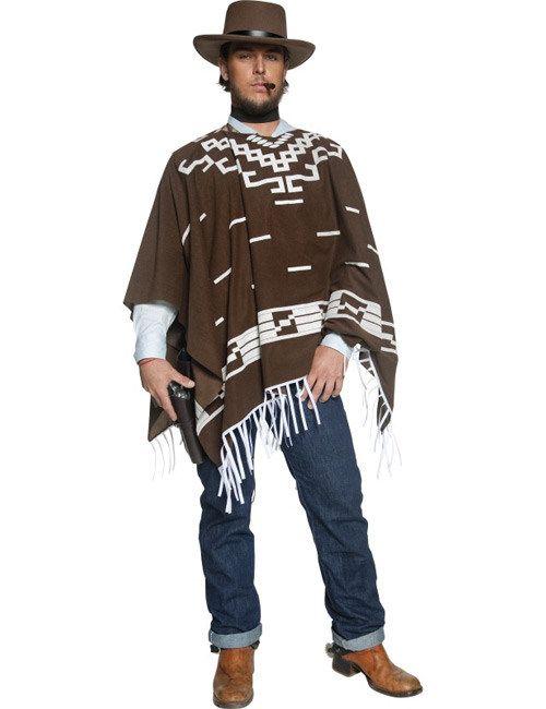 Cowboy Kostüm Poncho braun-weiss, aus unserer Kategorie Cowboy & Indianer Kostüme. Wann immer dieser furchtlose Kopfgeldjäger eine Westernstadt betritt, wird er schon von weitem an seinem Poncho erkannt. Der Mann ohne Namen ist der Schrecken aller Verbrecher und arbeitet einen Steckbrief nach dem anderen ab. Ob tot oder lebendig ist ihm ganz egal, solange er seine Belohnung erhält. Ein geniales Kostüm für Fasching und Western Mottopartys. #Karnevalskostüm #Cowboykostüm