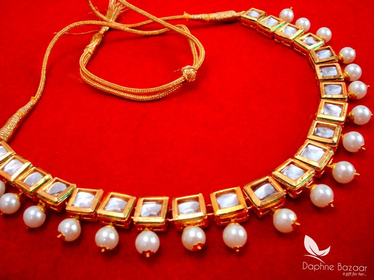 NC57, Traditional Pearl Kundan Necklace Set, for Women