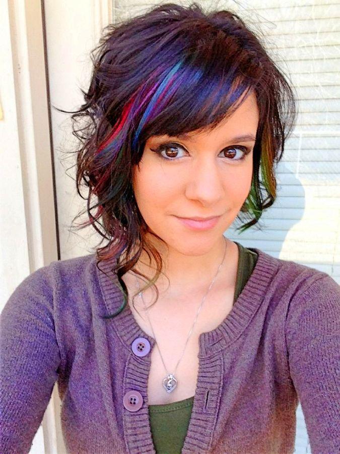Image result for hair color purple pink medium length  Hair dye  Hair Curly hair styles Hair
