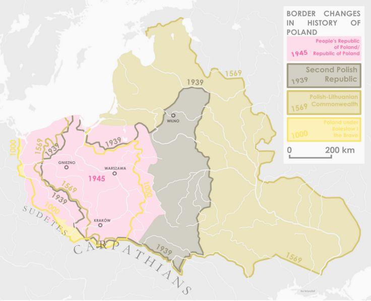 Cambios en las fronteras de Polonia