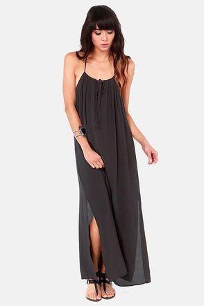 Lucy Love Paris Black Maxi Dress