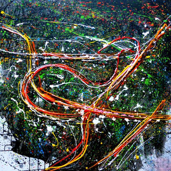 Night Roads large acrylic painting 100x100 by kachinaexpressionism