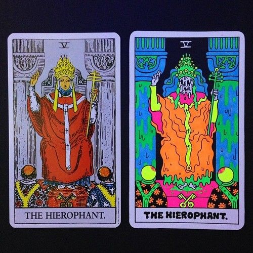 """""""The Hierophant"""" now with melting face! 16 more major arcana..."""