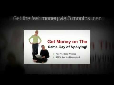 3 months loan - sufficient money for your urgent crisis