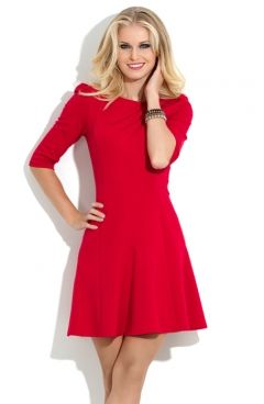 Короткое красное платье Donna Saggia DSP-118-29t