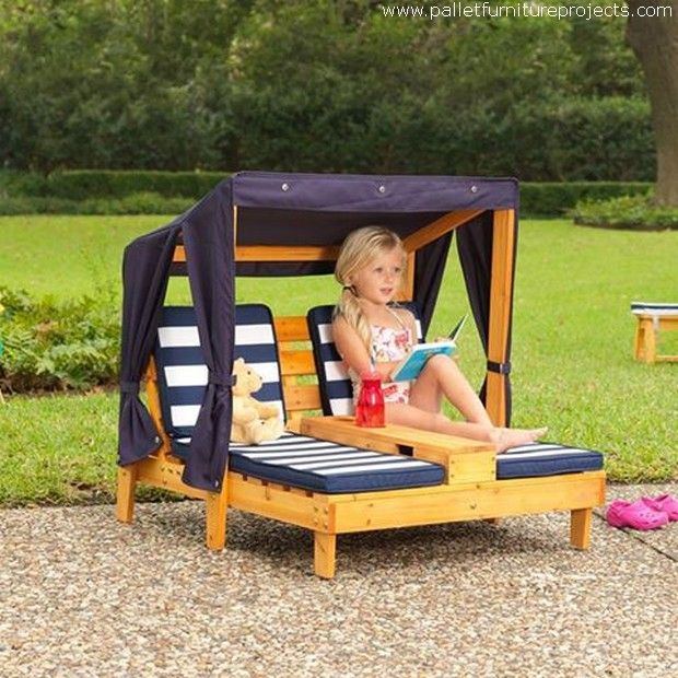 Best 20 pallet kids ideas on pinterest for Build outdoor chaise lounge