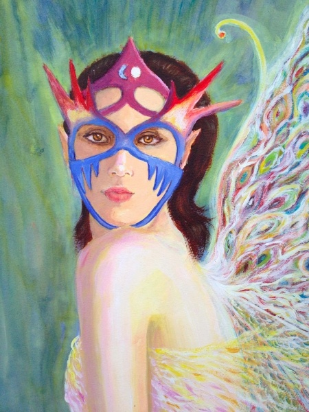 Sheila Rox - This is an original acrylic painting, on board.  The painting is unframed.  There are currently no prints of this work to my knowledge.Take care of nature, or the faeries will give you the cold shoulder! £10