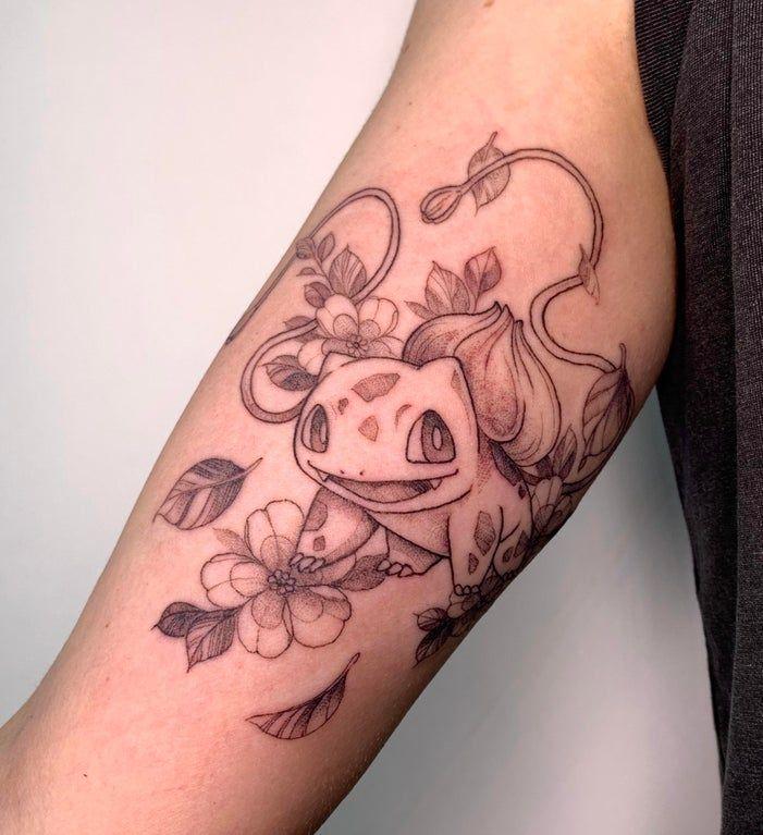 My new tattoo! Tattoos Pokemon, Anime Tattoos, Disney Tattoos, Body Art Tattoos, New Tattoos, Small Tattoos, Cool Tattoos, Random Tattoos, Piercing Tattoo