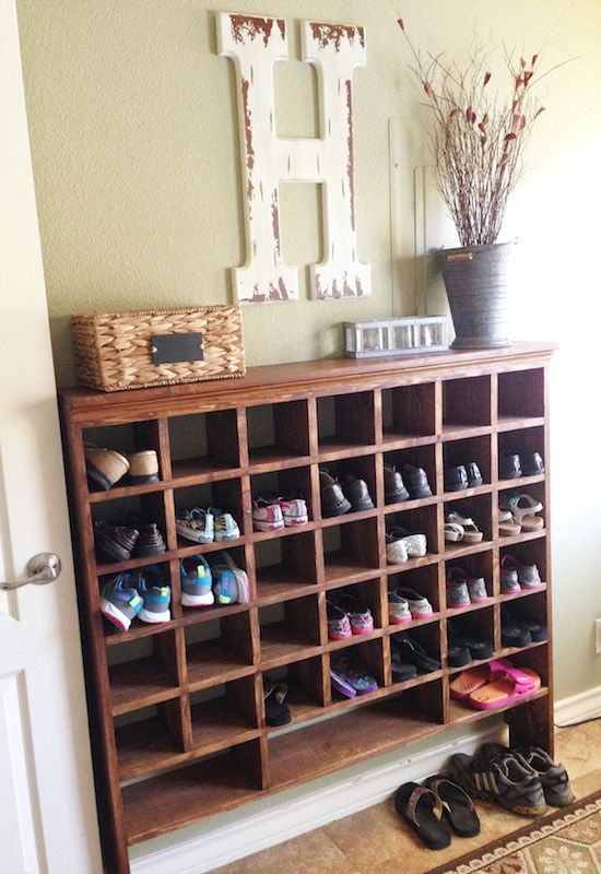 White Wooden Shoe Cubby