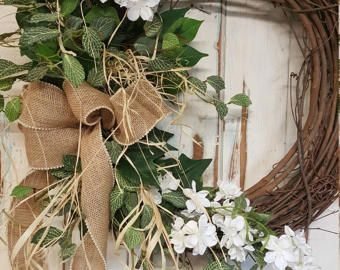 Front door wreaths Summer wreaths Home Decor wreaths Wreath