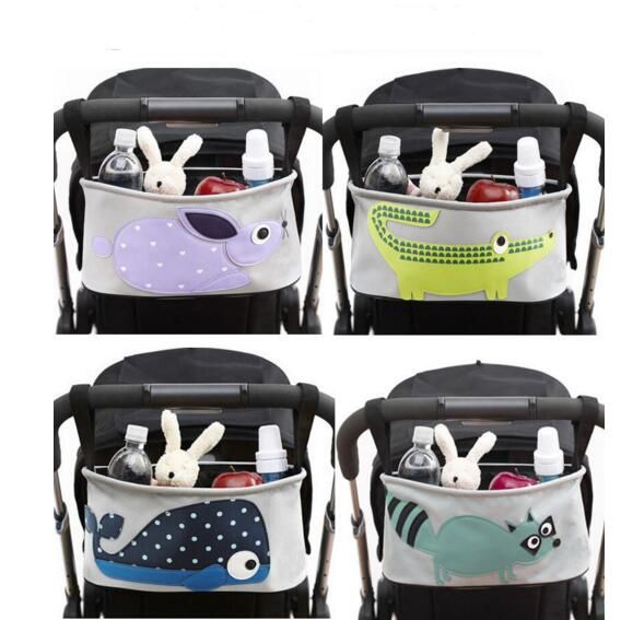 Hot Sales baby stroller Accessories Mommy Carter Pouch Baby Stroller Cartoon Waterproof Stroller Accessories Storage Hanging Bag