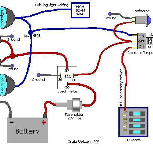 Astounding 5 Pin Relay Wiring Diagram Driving Lights along
