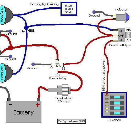 wiring diagram relay fog lights
