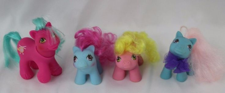 G1 My Little Pony Lot 1984 Babies Tappy Shoes, Shaggy, Whirly Twirl, Fancy Pants #Hasbro