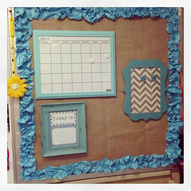 First Grade Blue Skies Calendar Area And Scrunched Paper