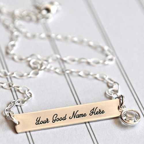 Get your name in beautiful style on Plain Necklace picture. You can write your name on beautiful collection of Jewelry pics. Personalize your name in a simple fast way. You will really enjoy it.