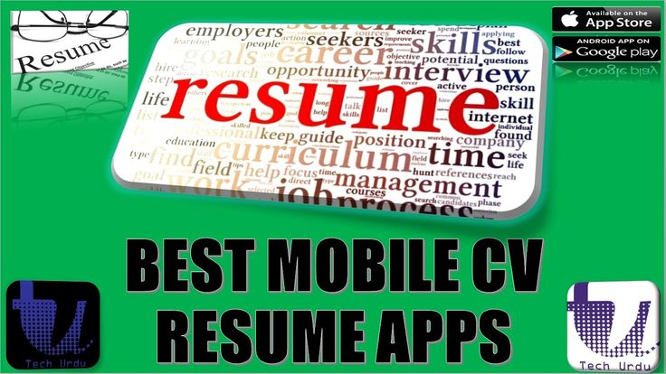 CREATE A RESUME OR CV WITH MOBILE   BEST MOBILE APPS FOR WRITING CV OR R...