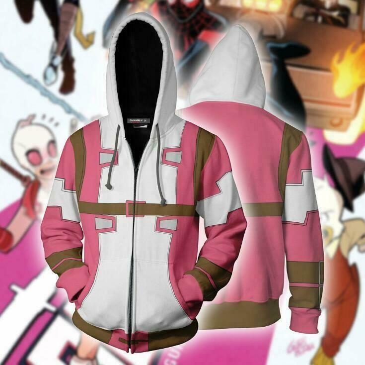 Angela Ziegler Costume Hooded Sweatshirt Mercy Hoodie Zipper Jacket
