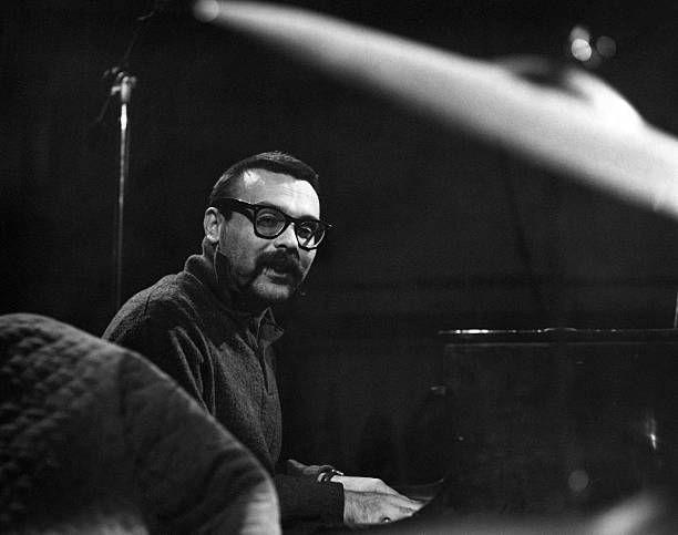 Jazz composer Vince Guaraldi plays piano in circa 1962.