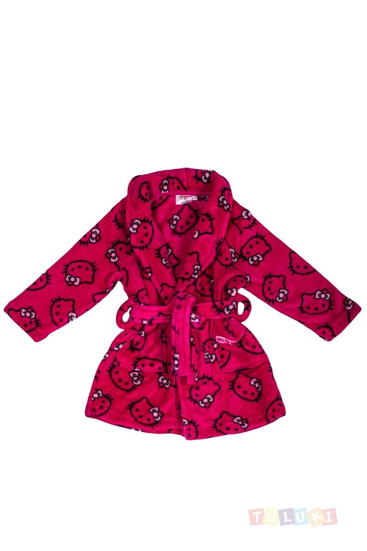 Robe de chambre Hello Kitty fuschia | https://www.facebook.com/Toluki #Toluki #enfant #mode