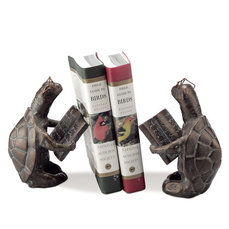 SPI Home Scholarly Turtle Book Ends (Set of 2)