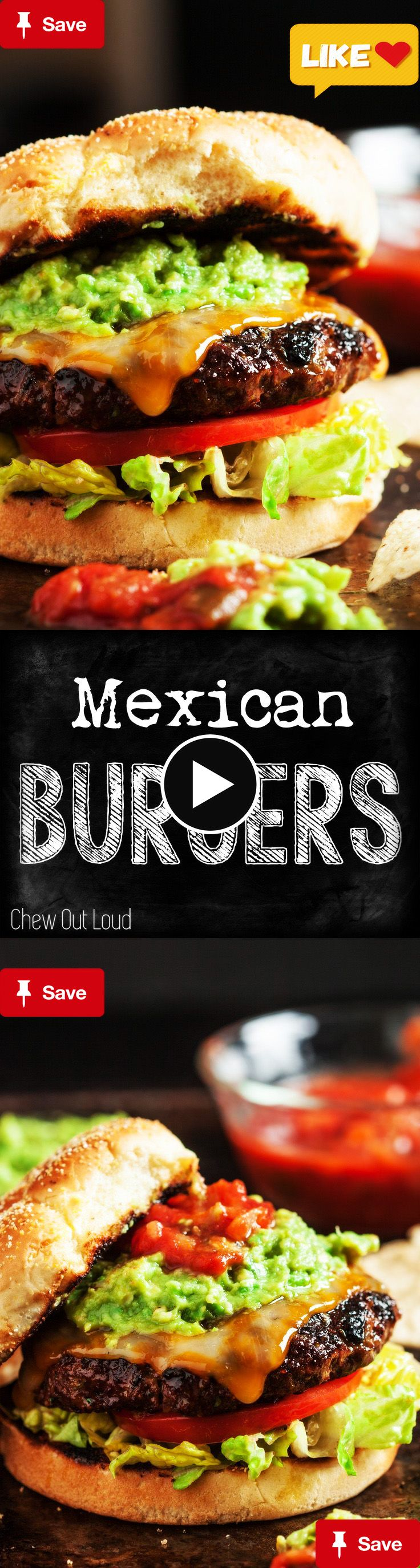 Mexican CheeseburgerMexican Cheeseburgers - Juicy, tender, mouthwatering cheeseburgers. All the flavors are mixed into the meat, so every bite is scrumptious.  this could be a great gift for father's day if he loves burger