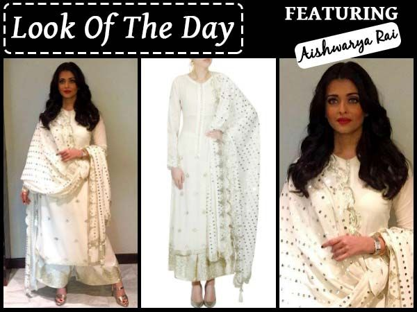 Aishwarya Rai Bachchan Looks Angelic In Pure White Indian Attire.