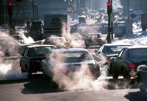 Contaminación urbana por gases que sueltan los autos,motos,todo tipo de transporte,etc.