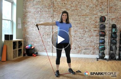 VIDEO: 7-Minute Upper Body Resistance Band Workout - easy to pack a band for traveling and do this workout!