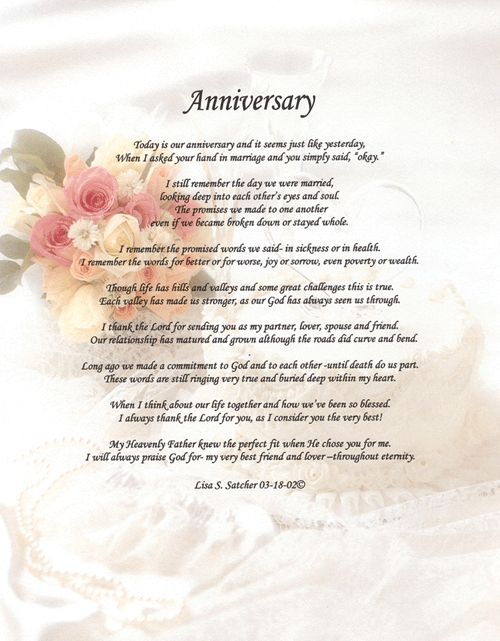 religious anniversary poems - Google Search