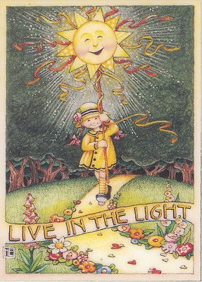 Live in The Light Handcrafted Fridge Magnet Art by Mary Engelbreit | Jesus is the Light of the World