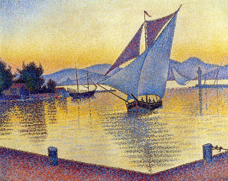 Paul Signac - The Port At Sunset, Saint-Tropez 1892