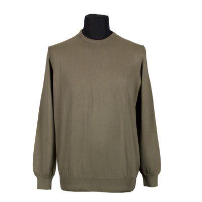 Maglia - MELAVERDE - Maglia in puro cotone manica lunga - Tortora - Estivo. € 17,50. #hallofbrands #hob #maglia #sweater #jersey #knitwear