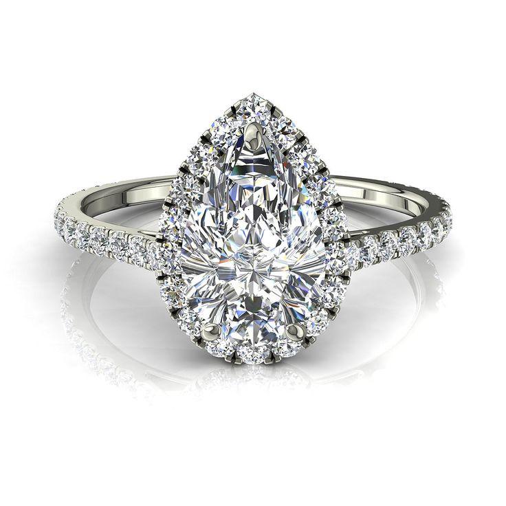 Bague de fiançailles pour femme solitaire bague diamant poire 0,80 carats or blanc Camogli-poire  #diamants #BagueDiamantRond #OrJaune #bouclesd #BagueDeFiancaille #SolitaireBagueDiamant #capucine #OrBlanc #BagueDiamant #CamogliEmeraude