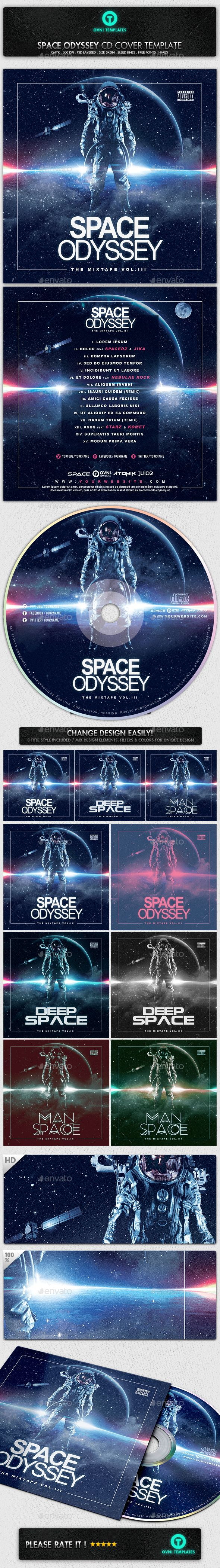 Space Galactic Astronaut CD Cover Template - PSD Template • Only available here ➝ http://graphicriver.net/item/space-galactic-astronaut-cd-cover-template/16886471?ref=pxcr