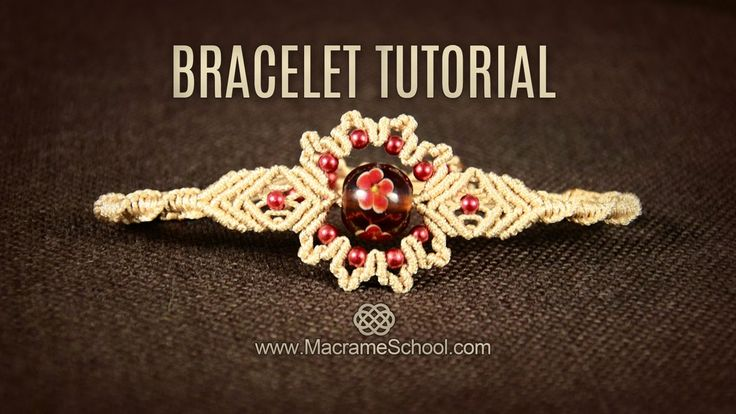 Big Bead Flower Bracelet Tutorial by Macrame School