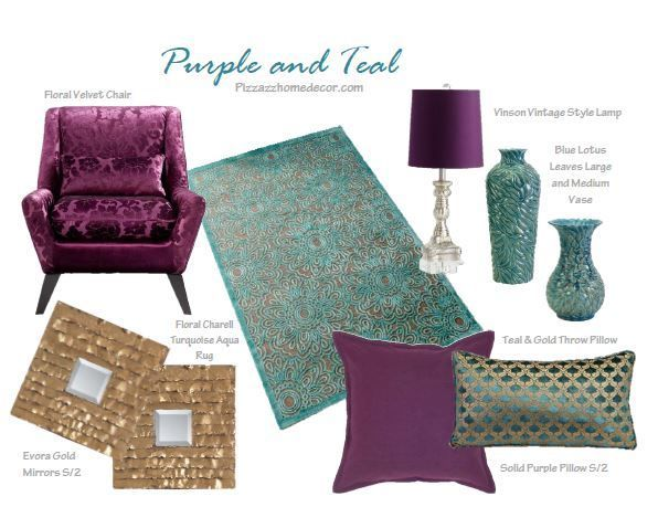 Home Decor: Unique Home Decor   Purple And Teal Room Collection, $2,599.00 Part 28