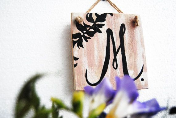 Monogram Wood wall decor, Calligraphy wall decor, Kids room decor, Letter wood sign, Nursery wall decor, Monogram door hanger, Monogram sign