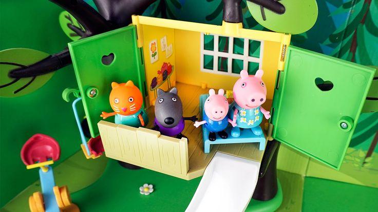 Свинка Пеппа и её друзья в домике на дереве