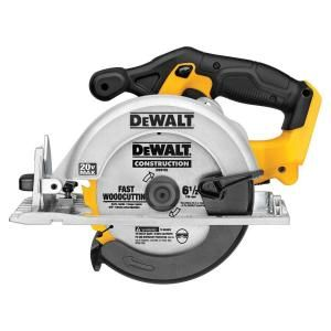 DEWALT, 20-Volt Max Li-Ion 6-1/2 in. Cordless Circular Saw (Tool-Only), DCS391B at The Home Depot - Mobile