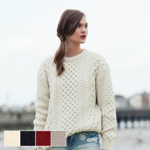 67 best Aran Sweaters for Women images on Pinterest | Aran ...