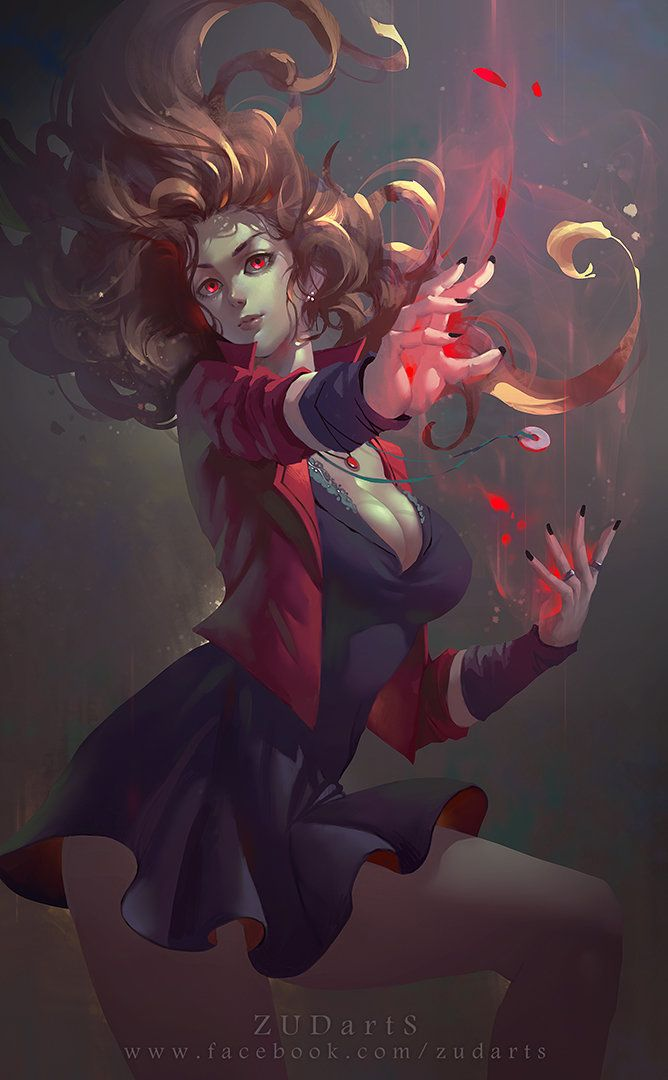 Scarlet Witch, Zudarts Lee on ArtStation at https://www.artstation.com/artwork/scarlet-witch-a3cbd54d-b9dd-43f5-9391-7189c75bf973