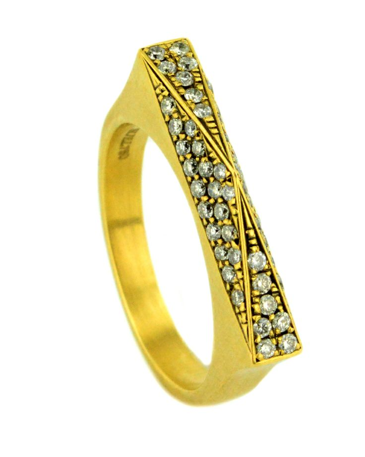 Suel | Pyramid Gold Diamond Ring | Rings | Jewelry