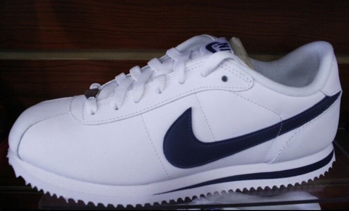 Nike Cortez White And Navy Blue