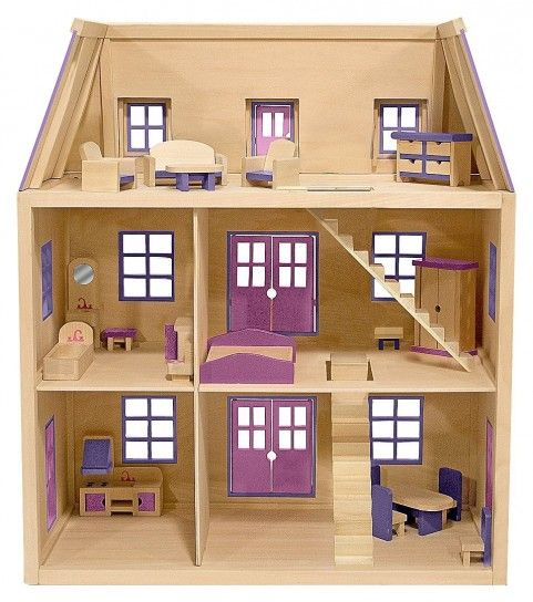 Casa delle bambole fai da te in legno