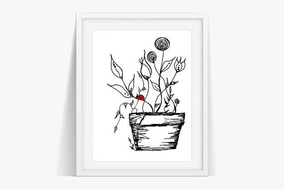 Check out Ladybird Art Print Poster Digital Download on janesapple