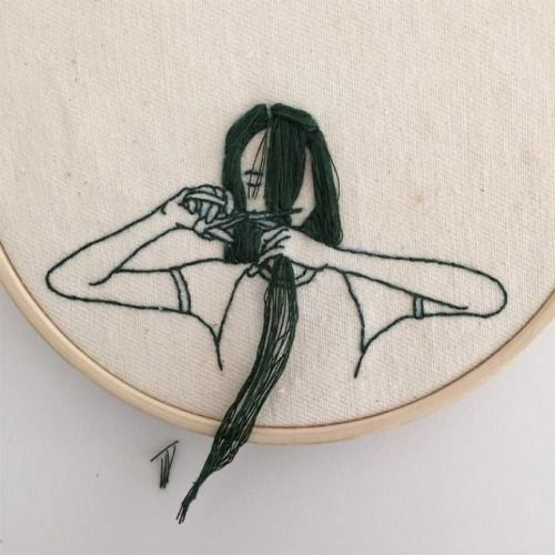 My Monday crush: embroidered ladies by Sheena...