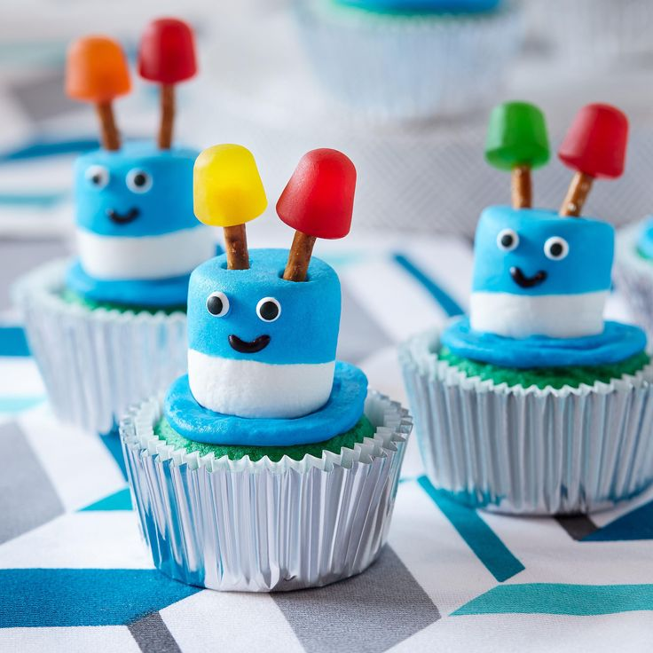 Zany Robot Cupcakes from Pillsbury™ Baking